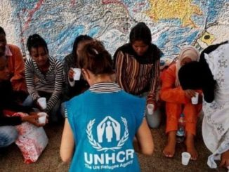 Partenza migranti Libia